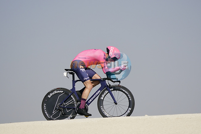 James Whelan (AUS) EF Education-Nippo during Stage 2 of the 2021 UAE Tour an individual time trial running 13km around Al Hudayriyat Island, Abu Dhabi, UAE. 22nd February 2021.  <br /> Picture: Eoin Clarke | Cyclefile<br /> <br /> All photos usage must carry mandatory copyright credit (© Cyclefile | Eoin Clarke)