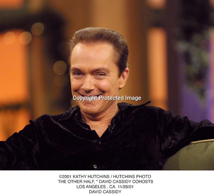 "©2001 KATHY HUTCHINS / HUTCHINS PHOTO. THE OTHER HALF, "" DAVID CASSIDY COHOSTS.LOS ANGELES , CA. 11/28/01.DAVID CASSIDY"