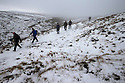 03/02/16 <br /> <br /> Walkers brave the cold on Axe Edge near Flash, in the Staffordshire Peak District.<br /> <br /> All Rights Reserved: F Stop Press Ltd. +44(0)1335 418365   +44 (0)7765 242650 www.fstoppress.com