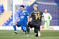 Taking the knee prior to kick off during Ipswich Town vs Wigan Athletic, Sky Bet EFL League 1 Football at Portman Road on 13th September 2020