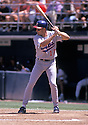 Chicago Cubs Mark Grace (17)  in action during a game from his career with the Chicago Cubs. Grace played for 16 years with 2 different teams.