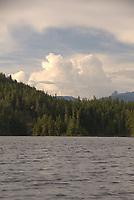 Clouds Over Waugh Lake, Sunshine Coast, British Columbia, Canada