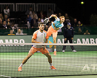 ABN AMRO World Tennis Tournament, Rotterdam, The Netherlands, 14 februari, 2017, Alexander Zverev (GER), Micha Zverev (GER)<br /> Photo: Henk Koster