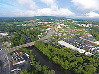 Cars traffic over the Rivanna River thru Free Bridge near Pantops in Charlottesville, Virginia. Photo/Andrew Shurtleff