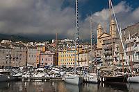 Europe/France/Corse/2B/Haute-Corse/Cap Corse/Nebbio/Bastia: le vieux port et l'eglise St-Jean-Baptiste