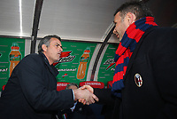 Inter's coach Jose Mourinho (L) and Bologna's Coach Sinisa Mihajilovic during their italian serie A soccer match at Dall'Ara Stadium in Bologna , Italy , February 21 , 2009 - Photo: Prater/Insidefoto ©