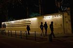 The Filmmakers' Wall, Institut Lumiere, Lyon, France, 13 January 2012. The wall displays plaques with the names of each film director who has visited the Institut. <br /> <br /> ***HINWEIS BEZUEGLICH DER ABBILDUNG VON KUNSTWERKEN. RECHTE DRITTER SIND VOM NUTZER ZU KLAEREN***