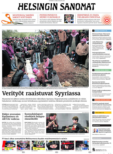 Helsingin Sanomat (main Finnisch daily):.Syria, Idlib province -.Uprising against Assad, 03.2012.Photos:  Timo Vogt