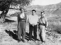Iraq 1967? <br /> In the mountains of Kurdistan, from left to right, Shawkat Akrawi, Zayd Ahmad Othman and Saleh Youssefi  <br /> Irak 1967? <br /> Dans les montagnes du Kurdistan de gauche a droite, Shawkat Akrawi, Zayd Ahmad Othman et Saleh Youssefi