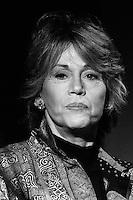 American actress Jane Fonda  at Hadassah Mont Scopus Hospital, in Jerusalem, December 19, 2002. Photo by Quique Kierszenbaum