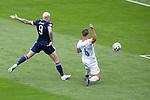14.06.2021 Scotland v Czech Republic:  Lyndon Dykes shoots wide