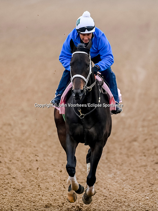 April 25, 2021: Will's Secret, trained by trainer Dallas Stewart, exercises in preparation for the Kentucky Oaks at Churchill Downs on April 25, 2021 in Louisville, Kentucky. John Voorhees/Eclipse Sportswire/CSM