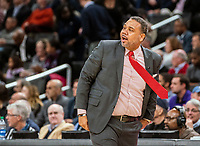 WASHINGTON, DC - FEBRUARY 19: Ed Cooley Head Coach of Providence reacts to a play during a game between Providence and Georgetown at Capital One Arena on February 19, 2020 in Washington, DC.