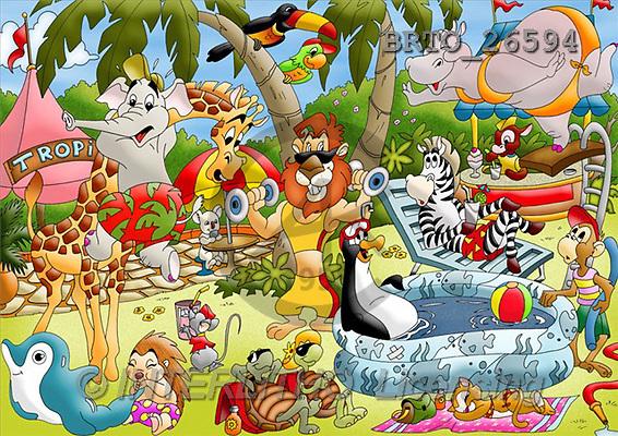 Alfredo, CUTE ANIMALS, puzzle, paintings(BRTO26594,#AC#) illustrations, pinturas, rompe cabeza