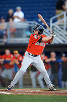 Aberdeen IronBirds right fielder Cole Billingsley (4) at bat during a game against the Batavia Muckdogs on July 15, 2016 at Dwyer Stadium in Batavia, New York.  Aberdeen defeated Batavia 4-2.  (Mike Janes/Four Seam Images)