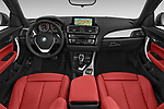 Stock photo of straight dashboard view of a 2015 BMW 2 Series  Sport 2 Door Convertible