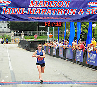 Verona's Katie Howery is the first female finisher in the Madison Mini-Marathon on Saturday, 8/21/10, in Madison, Wisconsin