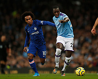 Willian of Chelsea and Benjamin Mendy of Manchester City during the Premier League match at the Etihad Stadium, Manchester. Picture date: 23rd November 2019. Picture credit should read: Darren Staples/Sportimage PUBLICATIONxNOTxINxUK SPI-0317-0008<br /> Foto Imago/Insidefoto <br /> ITALY ONLY