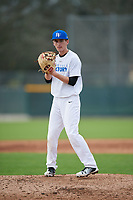 Tyler Lafortune (63), from Folsom, California, while playing for the Royals during the Baseball Factory Pirate City Christmas Camp & Tournament on December 29, 2017 at Pirate City in Bradenton, Florida.  (Mike Janes/Four Seam Images)