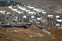 aerial photograph Sinclair Oil Refinery, Sinclair, Wyoming