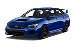 2019 Subaru WRX STI Base 4 Door Sedan angular front stock photos of front three quarter view