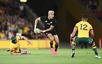 7th November 2020, Brisbane, Australia; Tri Nations International rugby union, Australia versus New Zealand;  Rieko Ioane   of The Allblacks in action