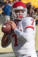 Rutgers quarterback Tom Savage warms up before the game. The Pittsburgh Panthers defeated the Rutgers Scarlet Knights 41-21 on October 23, 2010 at Heinz Field, Pittsburgh, Pennsylvania....
