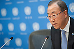 SG Ban Ki Moon first press conference in 2014