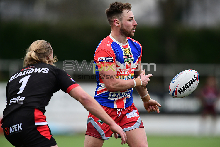 Picture by Alex Broadway/SWpix.com - 20/03/2021 - Rugby League - Betfred Challenge Cup Round 1 - London Broncos v Keighley Cougars - Rosslyn Park, London, England - Jack Miller of Keighley Cougars in action.