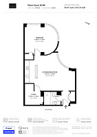 BNPS.co.uk (01202) 558833. <br /> Pic: OrlandoReid/BNPS<br /> <br /> Pictured: Floorplan. <br /> <br /> A flat in a ten-storey Art Deco mansion block that was the fictional home of TV detective Hercule Poirot has gone up for rent for £1,950 a month.<br /> <br /> Grade II listed Florin Court in East London was used for filming the long-running ITV series about Agatha Christie's iconic detective.<br /> <br /> The one-bedroom ground floor flat includes a double bedroom, an open plan reception room and kitchen, and a study or home office and<br /> a marble-tiled family bathroom.<br /> <br /> The exterior of the building has strong Art Deco motifs, many of which were used in the filming of Poirot, for 24 years, from 1989 to 2013.