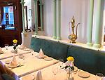 Interior, Al Sultan Restaurant, London, city, England, UK, United Kingdom, Great Britain, Europe, European