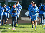 St Johnstone Training….17.02.17<br />Danny Swanson pictured alongside Michael Coulson during training this morning at McDiarmid Park ahead of tomorrow's trip to Dingwall<br />Picture by Graeme Hart.<br />Copyright Perthshire Picture Agency<br />Tel: 01738 623350  Mobile: 07990 594431