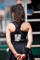 France, Paris , May 27, 2015, Tennis, Roland Garros, Ballgirl<br /> Photo: Tennisimages/Henk Koster
