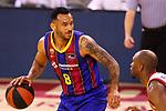 Liga ACB-ENDESA 2020/2021. Game: 26.<br /> FC Barcelona vs Casademont Zaragoza: 107-88.<br /> Adam Hanga vs Javier Justiz.