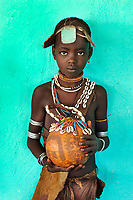 Girl with Gourd, Omo Valley, Ethiopia