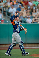 Beau Taylor (6) of the Las Vegas Aviators during the game against the Salt Lake Bees at Smith's Ballpark on July 20, 2019 in Salt Lake City, Utah. The Aviators defeated the Bees 8-5. (Stephen Smith/Four Seam Images)