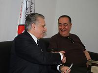 Nabil Karoui, magnat des médias tunisien et candidat potentiel à la présidentielle, est photographié après avoir présenté sa candidature à la commission électorale tunisienne à Tunis, la capitale, le 2 août 2019. - Les candidats à la présidence en Tunisie ont commencé à enregistrer leurs candidatures aujourd'hui pour des élections clichées de septembre appelées après le décès du président du dirigeant de 92 ans Beji Caid Essebsi<br /> <br /> PHOTO : Agence Quebec Presse - jdidi wassim