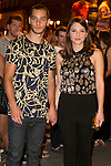 Joel Bosqued and Andrea Duroattends the party of Nike and Roberto Tisci at the Casino in Madrid, Spain. September 15, 2014. (ALTERPHOTOS/Carlos Dafonte)