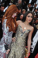 Phoebe Price - Josephine Jobert  .Cannes 18/5/2013 .Festival del Cinema di Cannes .Foto Panoramic / Insidefoto .ITALY ONLY