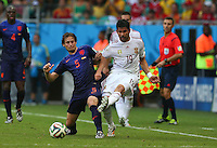 Daley Blind of Netherlands and Diego Costa of Spain in action