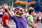 Gay Pride Parade circa early 1980s in West Hollywood, CA