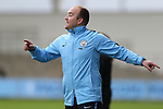 Manager Nick Cushing of Manchester City Women instructs from the technical area