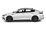Car driver side profile view of a 2019 KIA Optima SX-Turbo 4 Door Sedan