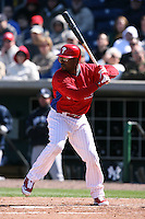 March 4, 2010:  Shortstop Jimmy Rollins of the Philadelphia Phillies during a Spring Training game at Bright House Field in Clearwater, FL.  Photo By Mike Janes/Four Seam Images