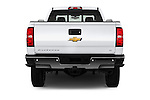 Straight rear view of 2016 Chevrolet Silverado-3500HD LT-Crew-SRW 4 Door Pickup Rear View  stock images