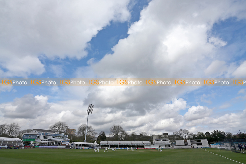 General view of action during Essex CCC vs Lancashire CCC, Friendly Match Cricket at The Cloudfm County Ground on 25th March 2021