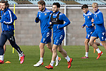 St Johnstone Training….01.10.20     <br />Craig Conway pictured with David Wotherspoon during training at McDiarmid Park ahead of Sundays game against Celtic.<br />Picture by Graeme Hart.<br />Copyright Perthshire Picture Agency<br />Tel: 01738 623350  Mobile: 07990 594431