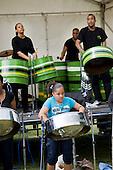 Paddington Arts steel band play at Westbourne Festival, Paddington, London.