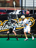 3 April 2010: Binghamton University Bearcats' Attacker Adam Mazzoni, a Junior from Camillus, NY, in action against the University of Vermont Catamounts at Moulton Winder Field in Burlington, Vermont. The Catamounts defeated the visiting Bearcats 11-8 in Vermont's opening home game of the 2010 season. Mandatory Credit: Ed Wolfstein Photo