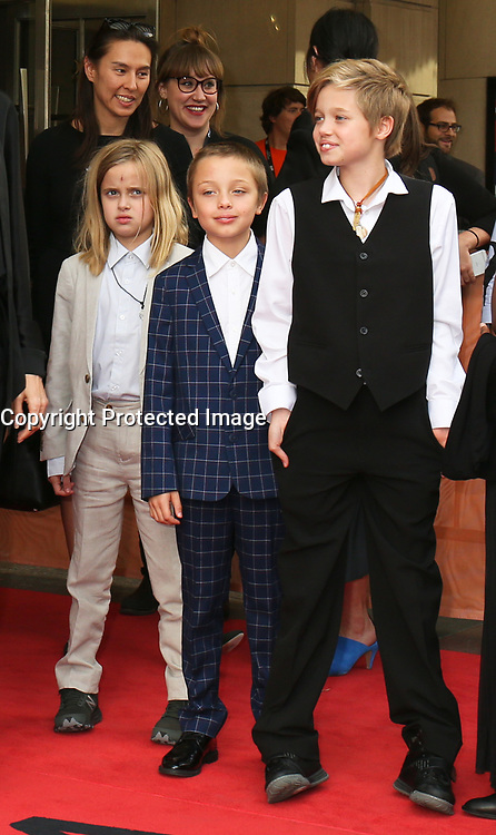 VIVIENNE, KNOX AND SHILOH JOLIE-PITT - RED CARPET OF THE FILM 'FIRST THEY KILLED MY FATHER' - 42ND TORONTO INTERNATIONAL FILM FESTIVAL 2017